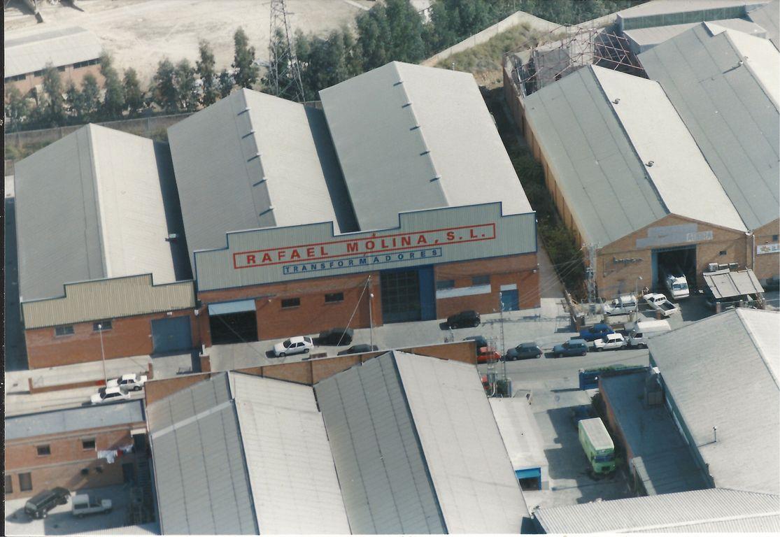 Vista aérea de los talleres de Transformadores Molina